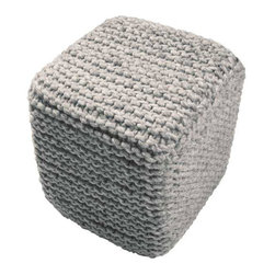 Square Peg Pouf - Sure, you can't fit a square peg in a round hole. But you can transform a rug into a pouf. This woven seat is a perfect alternative to a stiff chair.