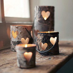 eclectic candles and candle holders by Not on the High Street