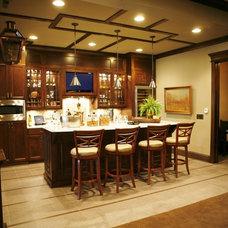 Traditional Basement by Heartwood Custom Homes Inc.