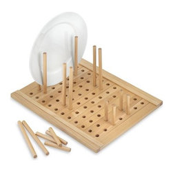 Maple Peg Drawer Organizer - This pegboard lets you customize how you'd like to organize your cabinet.