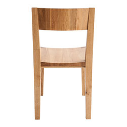 LAXseries Dining Chair - Instant classic. Stunning simplicity + genius design equals the first incarnation of the LAXseries chair. This solid English walnut masterpiece is engineered to last a lifetime, both through its timeless aesthetic and strapping construction. Finished with a glowing, eco-conscious natural oil, the chair exudes a warm beauty made to delight for decades.