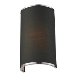 Z-Lite - Z-Lite 167-1S Cameo 1 Light Wall Sconce - A chocolate colored shade is paired with brushed nickel bands and hardware to create a simple, contemporary look. This wall sconce is a perfect addition to any modern looking area.Specifications: