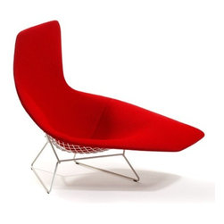 Knoll - Knoll | Bertoia Asymmetric Chaise, Fully Upholstered - Design by Harry Bertoia, 1952.