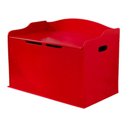 KidKraft - Austin Toy Box - Red by Kidkraft - Our Austin Toy Box lets kids keep all of their favorite toys in one convenient place. This sturdy toy box was built to last and would fit right in with any room setting.