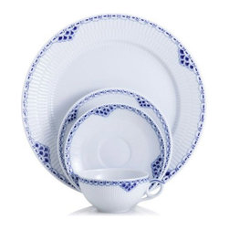 Royal Copenhagen - Royal Copenhagen Princess Blue 5-Piece Place Setting - Royal Copenhagen Princess Blue 5-Piece Place Setting