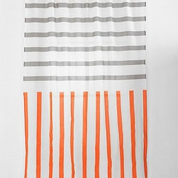 Assembly Home Mixed Stripe Curtain, Orange - I'm thinking of making this into a shower curtain. Just add a white liner and some rings.