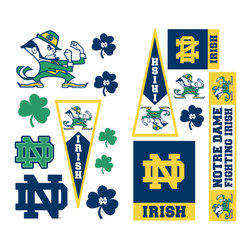 York Wallcoverings - Notre Dame Fighting Irish 29pc College Wall Accent Stickers - Features: