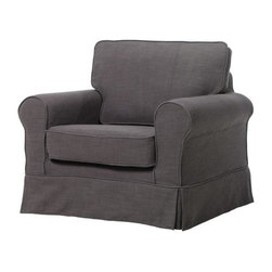 Home Decorators Collection - Sophia Slipcovered Chair - Beautifully upholstered and expertly crafted, our Sophia Slipcover Collection allows you to change the slipcover easily so that you can create the perfect look for you. Our Sophia Slipcovered Chair turns any extra nook in your home into the perfect place to read a book. The chair is the perfect place to unwind each day so order yours now. Sturdy wood frame ensures durability. Skirted bottom provides a touch of sophisticated elegance. Coordinates with our Sophia Chair Slipcover.