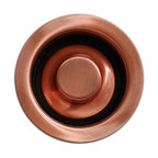 TCS Home Supplies - Kitchen / Bar Copper Sink Basket Disposal Flange 3.5-inch - Kitchen Bar Sink Basket Disposal. Standard Drain Openings. Copper Finish.