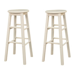 American Heritage - American Heritage Classic Stool in White - 30 Inch (Set of 2) - Its name says it all. This Classic stool not only looks great but has the versatility to use in every room of your house.