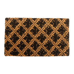 "CocoMatsNMore - CocoMatsNMore Diamond Floral Design Design Coco Doormats - 18"" X 30"" - Eco-friendly Coco Mat are hand-woven and  made from 100% natural coir . These coco doormats are designed to last for a long time and are easy to maintain and clean by either shaking or hosing it down. Designed with fade-resistant dyes they are durable enough to withstand the harshness of weather and look good througout the year. Furthermore, they keep your house clean by doing a fabulous job of trapping the dirt, mud and debris right at the doorstep."
