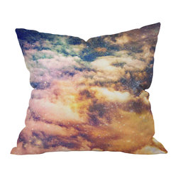 DENY Designs - Shannon Clark Cosmic Throw Pillow, 26x26x7 - Reach for the stars — and some soft style — with this pillow. Cosmic clouds, constellations and colors realistically printed on woven polyester are sure to add an atmospheric element to your sofa, bed or bench. It comes with a zipper closure and bun insert for out-of-this-world comfort.