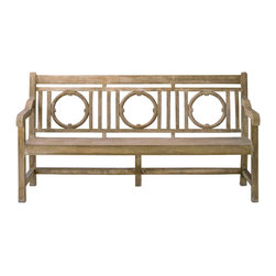 Leagrave Bench - With a classic English garden design, the Leagrave Bench is both timeless and elegant. Constructed out of concrete with the Portland finish, gives the impression that the chair is wooden. A perfect outdoor bench to share and sit in the sun, the Leagrave Bench is the ideal compliment to the matching Leagrave Chair.