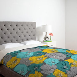 DENY Designs - DENY Designs Khristian A Howell Bryant Park Duvet Cover Multicolor - 12998-DUWKI - Shop for Duvets from Hayneedle.com! Add just the right amount of color to your comfy bed with the DENY Designs Khristian A Howell Bryant Park 3 Duvet Cover. Vibrant yellow color pops from this beautifully detailed floral design. Machine washable this ultra-soft duvet cover is made of 100 percent polyester microfiber material and features small metal snaps to ensure a secure closure to any bed. Find the perfect fit with the available choice of sizes.About DENY DesignsDenver Colorado based DENY Designs is a modern home furnishings company that believes in doing things differently. DENY encourages customers to make a personal statement with personal images or by selecting from the extensive gallery. The coolest part is that each purchase gives the super talented artists part of the proceeds. That allows DENY to support art communities all over the world while also spreading the creative love! Each DENY piece is custom created as it's ordered instead of being held in a warehouse. A dye printing process is used to ensure colorfastness and durability that make these true heirloom pieces. From custom furniture pieces to textiles everything they make is unique and distinctively DENY.