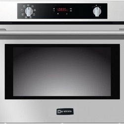 "Verona - VEBIEM3024SS 30"" Electric Wall Oven with 3 Cu. Ft. Capacity  Pyrolytic Self Clea - The Verona VEBIEM3024SS 30 Electric Wall Oven is loaded with features The 3 Pane Heat Resistant Glass and Auto Door Lock proviode added security The 8 Cooking Functions Multi-Function European Convection Preheat Indicator Bar and 2 Telescopic Glide R..."