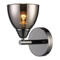 Black Chrome 1-light Wall Sconce - This is pretty badass.  It reminds me of the Caleb Siemon elbow sconce, only that one is a kajillion dollars.  This one is under $50.