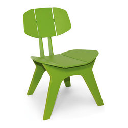Loll Designs - Coco Chair, Leaf Green - Designed with Christopher Douglas, the Coco Chair is a relaxed, modern lounger that is equally agreeable on your hardwoods or roof deck. With contoured slats that form both the seat and back, the Coco Chair will fit you and your guests like your favorite corduroy blazer.