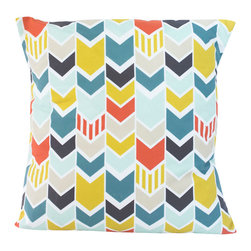 Modercre8ve - Modern Chevron Throw Pillow 16 x 16 - Modern Chevron Throw pillow