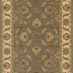Karastan - Karastan Sierra Mar Sedona Limestone Rug (9'6 x 13'2) - Comfortable,weathered color is the style of the Sierra Mar collection,with patterns that complement traditional and modern design. The yarns have been twisted and space-dyed to create color stria reminiscent of hand woven Peshawar rugs.