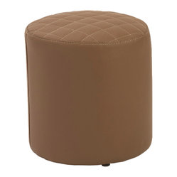 Chen Quilted Stool-Dk - Ahhh....quilted comfort. You easily could use this inviting accessory as a foot ottoman or as a stool for extra seating. Its stitched surface features a generous amount of padding, creating a comfortably soft experience.