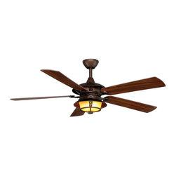 "Monte Carlo - Monte Carlo 5BR52RBD Burnet Roman Bronze 52"" Outdoor Ceiling Fan - Indoor or Outdoor WET Rated"