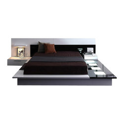 VIG Furniture - Impera - Modern-Contemporary lacquer platform bed, California King - The Impera model is versatile, offering you a sophisticated modern look, so it can adapt to the furnishing needs of your home.