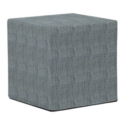 Howard Elliott - Coco No Tip Block Ottoman - The No-Tip Block is constructed with a dense light-weight foam and then topped off by a soft, high quality foam making it sturdy yet comfortable. Its unique design allows weight to be distributed evenly keeping it from tipping like most foam ottomans.