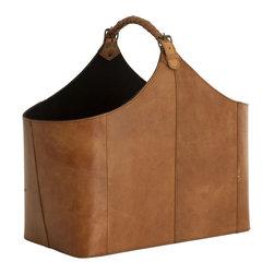 Eichholtz Oroa - Bag Brunello - Tanned leather - Magazine or log basket