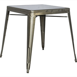 Chintaly Imports - Alfresco Cold Roll Steel Dining Table in Gun Metal - Alfresco Cold Roll Steel Dining Table in Gun Metal