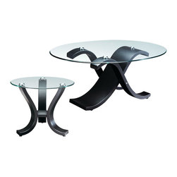 Coffee Table Set with Curved Legs - Set includes 1 Coffee table and 2 End tables. It will be a great addition beside your couch or chair to hold your lamp, books, or drink.