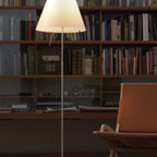 Costanza Floor Lamp By Luceplan Lighting - The Costanza Floor lamp from LucePlan uses a sensorial dimmer rod close to the light, which has only to be lightly touched to adjust its on-off intensity through four levels of brightness.