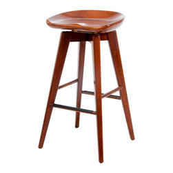 Boraam Boraam 29 Quot Bali Swivel Stool In Walnut Boraam