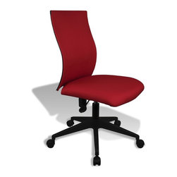 Jesper - Jesper Kaja Office Chair - Red - Real Leather, Castors for Mobility, Very Comfortable, Timeless Design, Very Durable, 2 Year Warranty