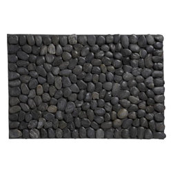Pebble Mat - A natural stone mat is the perfect way to welcome guests to the garden.