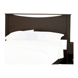 South Shore - South Shore Back Bay Full/Queen Headboard in Dark Chocolate - South Shore - Headboards - 3159270 - The convenient and practical Back Bay headboard is an ideal choice for any modern living space be it a loft an apartment or a home. Contemporary and functional the top of the panel is concave and is accented by decorative crown molding.