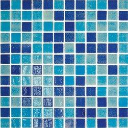 Eleganza - Eleganza - Onix Pool Tile Nieve 1X1 On 12.2X18.1 Sheet  - OPTG11 - Glass Collection