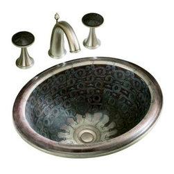 KOHLER - KOHLER K-14234-SP-G9 Serpentine Bronze Design on Intaglio Self-Rimming Lavatory - KOHLER K-14234-SP-G9 Serpentine Bronze Design on Intaglio Self-Rimming Lavatory