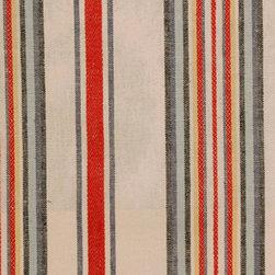 STRIPE - INDIGO - Item #1008570-193. 55% Linen 45% Cotton. Durability: 20,000  Cotton Duck Double Rubs. Made in CHINA.