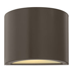 """Hinkley Lighting - Hinkley Lighting 1666-LED Two Light 5.25"""" Tall LED Dark Sky Outdoor Wall Sconce - Contemporary / Modern Two Light 5.25"""" Tall LED Dark Sky Outdoor Wall Sconce from the Luna CollectionThe Luna 5.25"""" tall outdoor wall sconce will enhance the warm and welcoming entrance to your home.  The contemporary sconce is ADA compliant Dark Sky compliant with a covered top with solid aluminum construction and a width of 9"""".  The LED panels are fully integrated and the driver is built into the fixture.  View the complete Luna collection to for all the sizes and options that are available.  Accentuate the beauty of your property while enjoying the superior materials and craftsmanship of Hinkley Lighting fixtures.Features:"""