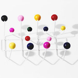 Herman Miller Eames Hang-It-All Rack - Coats, bags, hats and scarves all have a pretty place to go on these colorful hooks.