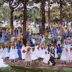 """Maurice Prendergast May Day, Central Park Print - 16"""" x 24"""" Maurice Prendergast May Day, Central Park (also known as Central Park or Children in the Park) premium archival print reproduced to meet museum quality standards. Our museum quality archival prints are produced using high-precision print technology for a more accurate reproduction printed on high quality, heavyweight matte presentation paper with fade-resistant, archival inks. Our progressive business model allows us to offer works of art to you at the best wholesale pricing, significantly less than art gallery prices, affordable to all. This line of artwork is produced with extra white border space (if you choose to have it framed, for your framer to work with to frame properly or utilize a larger mat and/or frame).  We present a comprehensive collection of exceptional art reproductions byMaurice Prendergast."""
