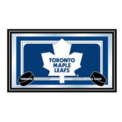 Trademark Global - Framed NHL Toronto Maple Leafs Team Logo Mirr - Great for gifts and recreation decor. Mirror with print. Black wrapped wood frames. 26 in. W x 15 in. H (10 lbs.)This National Hockey League Officially Licensed Team Logo Wall Mirror is the perfect gift for the Hockey Fan in your life.