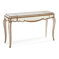 Bassett Mirror - Bassett Mirror Collette Mirrored Cabriole Leg Console Table - Collette Mirrored Cabriole Leg Console Table