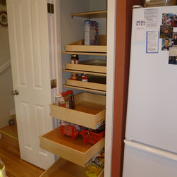 Closet and Walk-In Pantries - Custom designed pull out pantry shelves from ShelfGenie of Seattle.