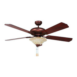 Yosemite Home Decor - 52 Inch Ceiling Fan in Oil Rubbed Bronze Finish with 72 Lead Wire - Features:
