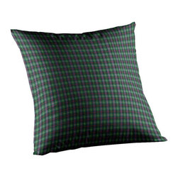 Patch Quilts - Green Tartan Plaid Fabric Toss Pillow 16 x 16 Inch - Home spun  yarn dyed fabric throw pillow  - complements with Patch Magic brand quilted line  - Machine washable  Line or Flat dry only Patch Quilts - TPW196A
