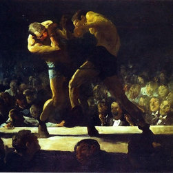 """George Wesley Bellows Club Night - 16"""" x 20"""" Premium Archival Print - 16"""" x 20"""" George Wesley Bellows Club Night premium archival print reproduced to meet museum quality standards. Our museum quality archival prints are produced using high-precision print technology for a more accurate reproduction printed on high quality, heavyweight matte presentation paper with fade-resistant, archival inks. Our progressive business model allows us to offer works of art to you at the best wholesale pricing, significantly less than art gallery prices, affordable to all. This line of artwork is produced with extra white border space (if you choose to have it framed, for your framer to work with to frame properly or utilize a larger mat and/or frame).  We present a comprehensive collection of exceptional art reproductions byGeorge Wesley Bellows."""