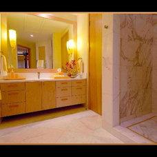 Tropical Bathroom by Interior Design Solutions Maui