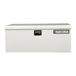 """Tradesman Truck Accessories, LLC - 42"""" Steel Job Site Tool Box - The TSTJ42 is a light duty large size steel job site box. Portability and security in one box. Lockable snap latch with easy carry side handles."""