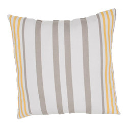 """Jaipur Rugs - Taupe/Orange color polyester odl hugo poly fill pillow 20""""x20"""" - These fashion forward pillows, in trellis, stripes and whimsical patterns are for both indoor and outdoor use."""